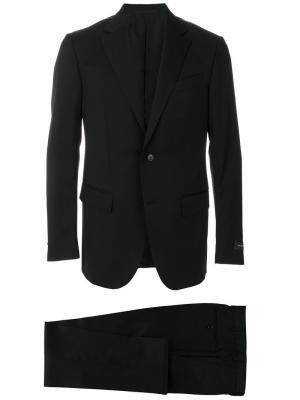 Классический костюм кроя слим Ermenegildo Zegna. Цвет: чёрный