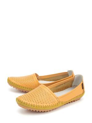 Мокасины LETMI. Цвет: желтый