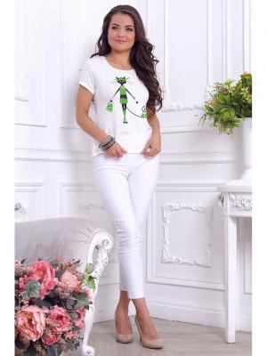 Блуза LIORA. Цвет: бежевый, зеленый