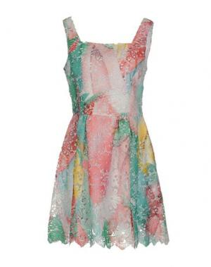 Короткое платье ANGELO MARANI. Цвет: светло-розовый