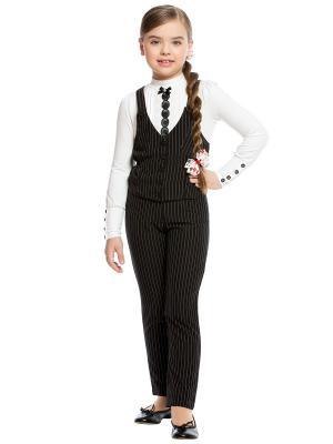 Костюм для средней школы: жилет+брюки Arina. Цвет: черный