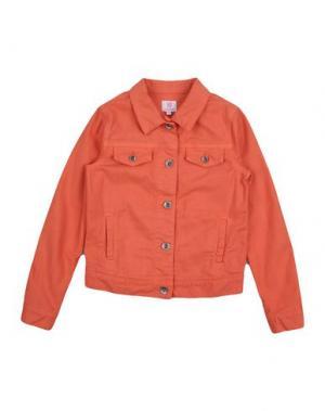 Джинсовая верхняя одежда MAURO GRIFONI KIDS. Цвет: оранжевый