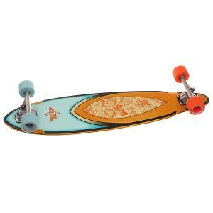 Скейт круизер  Fin Longboard Rose 8.75 x 35 (89 см) Dusters. Цвет: мультиколор