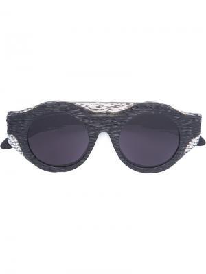 Солнцезащитные очки Mask A1 Kuboraum. Цвет: чёрный