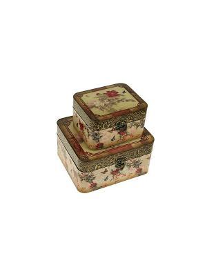 Набор сундучков из 2-х шт. Русские подарки. Цвет: коричневый