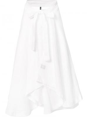 Плиссированная юбка с бантом Lisa Marie Fernandez. Цвет: белый