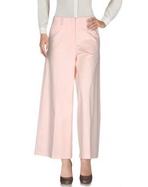 Повседневные брюки DIXIE. Цвет: светло-розовый