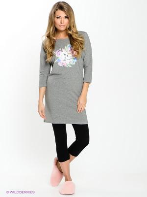 Пижама PELICAN. Цвет: серый, черный