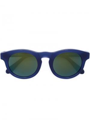 Солнцезащитные очки BOY DEEP BLUE Retrosuperfuture. Цвет: синий