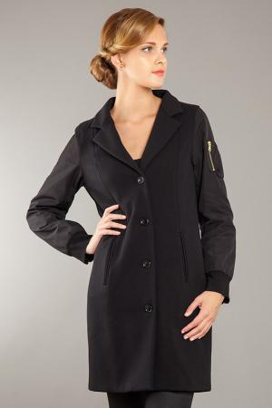 Пальто PAMELA MILANO. Цвет: черный