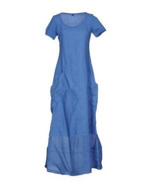 Длинное платье EUROPEAN CULTURE. Цвет: лазурный