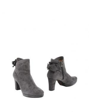 Полусапоги и высокие ботинки PAS DE ROUGE. Цвет: серый