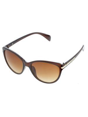 Солнцезащитные очки. Bijoux Land. Цвет: коричневый