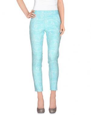 Повседневные брюки NINEMINUTES. Цвет: бирюзовый