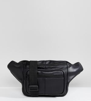 Shikumi Черная большая сумка-пояс. Цвет: черный