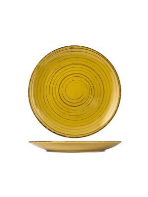 Набор тарелок обеденных ТЕРРАКОТА H&H. Цвет: желтый