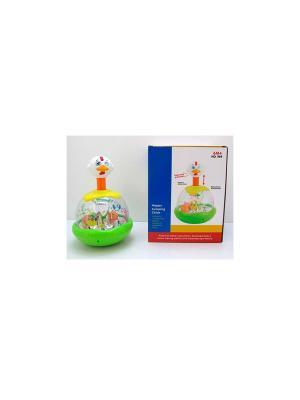 Игрушка детская механическая Утка-каруселька HUILE. Цвет: белый, желтый, зеленый, красный, оранжевый
