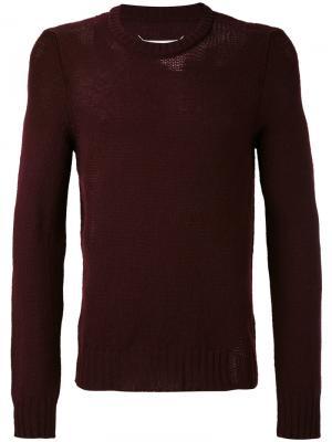 Трикотажный свитер Maison Margiela. Цвет: розовый и фиолетовый
