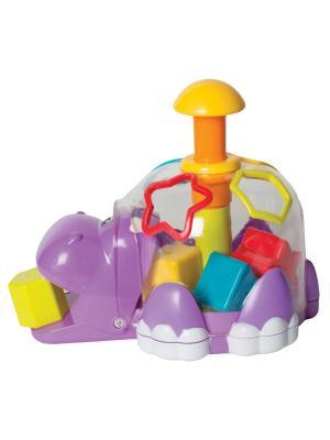 Бегемотик Playgro. Цвет: фиолетовый, красный, оранжевый