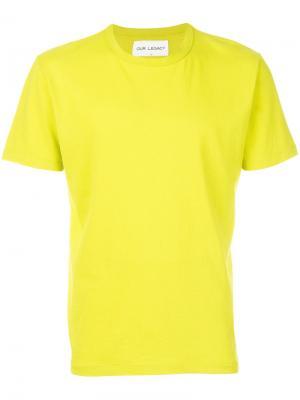 Классическая футболка Our Legacy. Цвет: жёлтый и оранжевый