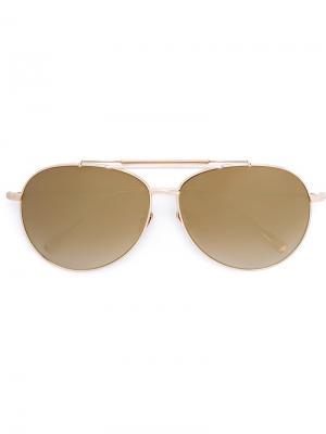 Солнцезащитные очки Pilot Bottle II Frency & Mercury. Цвет: металлический