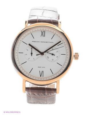 Часы FRENCH CONNECTION. Цвет: коричневый
