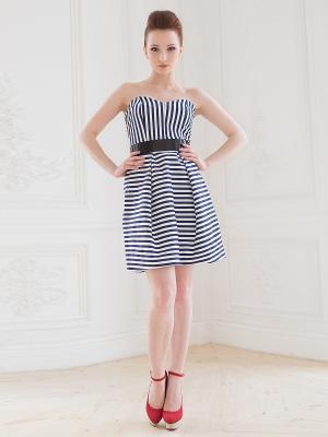 Платье Fashion.Love.Story.. Цвет: темно-синий, белый