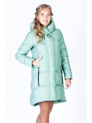 Пальто FREYA. Цвет: светло-зеленый