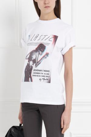 Хлопковая футболка Joyrich. Цвет: белый