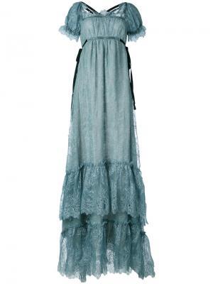 Shift maxi dress Erdem. Цвет: серый