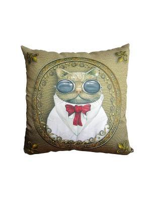 Подушка Gift'n'Home. Цвет: серо-коричневый, красный, золотистый, белый