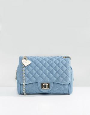 Marc B Джинсовая сумка на плечо. Цвет: синий