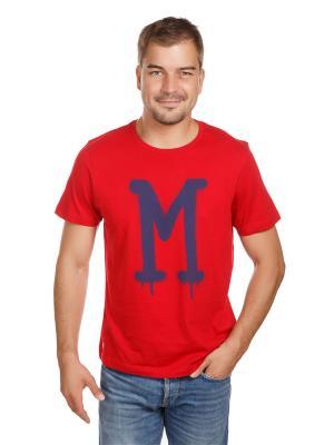 Футболка логотип McNeal. Цвет: синий, красный