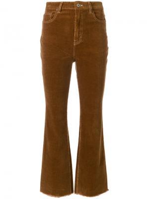 Вельветовые брюки с завышенной талией Neul. Цвет: коричневый