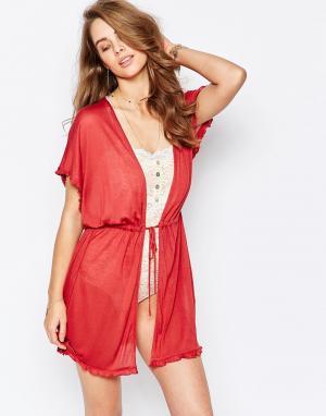 Somedays Трикотажное кимоно Lovin Tides. Цвет: красный