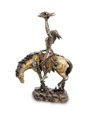 Статуэтка Индеец с трофеем Veronese. Цвет: бронзовый