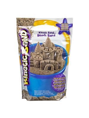 Песок для лепки Kinetic Sand морской 1,4 кг коричневый SPIN MASTER. Цвет: коричневый