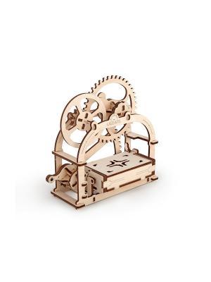 Конструктор 3D-пазл Ugears - Шкатулка. Цвет: светло-желтый