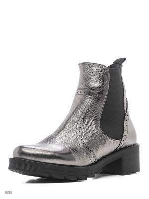 Ботинки Donna Ricco. Цвет: серебристый