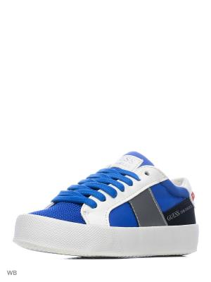 Кеды GUESS. Цвет: синий, серый, белый