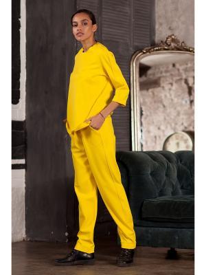Брюки RUXARA. Цвет: желтый
