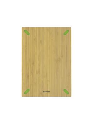 Разделочная доска из бамбука, 28 х 20 см, NADOBA, серия STANA Nadoba. Цвет: зеленый, бежевый