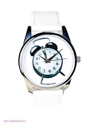Часы Mitya Veselkov. Цвет: белый, серебристый