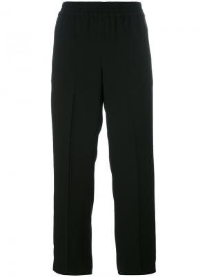 Elasticated waist cropped trousers Tory Burch. Цвет: чёрный