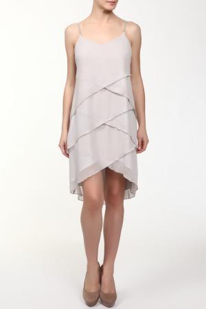 Платье M&L Collection. Цвет: серебряный