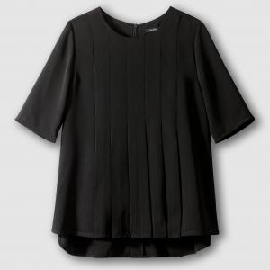 Блузка с короткими рукавами, TULIPE SCHOOL RAG. Цвет: черный