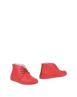 Полусапоги и высокие ботинки DEL TORO. Цвет: красный