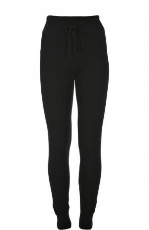 Кашемировые брюки с эластичным поясом и манжетами Back Label. Цвет: черный