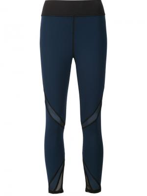 Radiate cropped leggings Michi. Цвет: синий