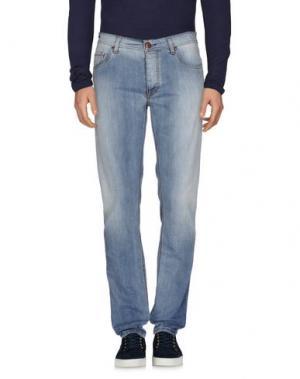 Джинсовые брюки TELERIA ZED. Цвет: синий